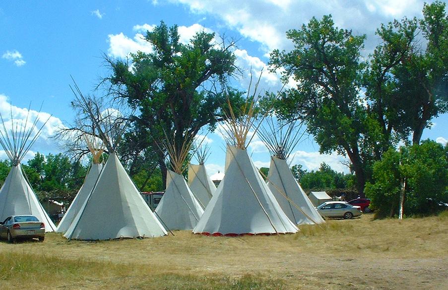 Postavljanje tipi kampa